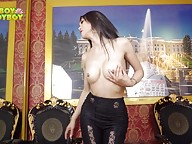 Gracious Bangkok bombshell with ass to die for Bella will pamper you with hot cum shooting today. Watch her as she caresses her sexy body with great passion, breathing and moaning heavily as she fucks her ass and strokes her cock `till she cums.