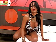 You guys ask more dark skin shemales then we just keep bringing. Yasmin is an ebony hottie with a lot of sexual energy and she ll prove it in her impetuous debut set with us here she wants show you her undeniable delicious skills. This TS is pure seductio