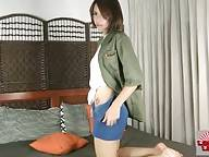 Lovely Asian She-Male Starts Stripping For You 1