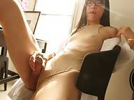 Spreading her gorgeous legs to reveal her see-through panties which barely contain the sweet surprise within before whipping it out and scheduling you in for some prostate treatment with a twist! Dr Yui will see you now - over in the cum splooging update