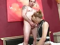 Sexy She-Male Swallows Partner`s Dick 4