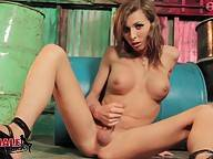 Sienna Grace Strokes Her Hard Cock